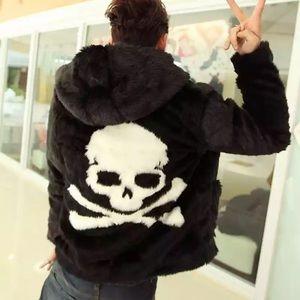 Jackets & Blazers - Fur Coat Festival Rave Burning Man Skull EDC Top